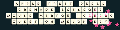 Apple Fruit Dress Grenade Scissors Mouse Mirror Iceberg Question Melon Key